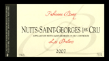 Nuits-St.-Georges 1er Cru Les Pruliers Rouge - ニュイ・サン・ジョルジュ プルミエ・クリュ レ・プリュリエ ルージュ