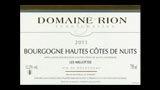 Bourgogne Hautes-Côtes de Nuits Blanc Les Millottes - ブルゴーニュ オート・コート・ド・ニュイ ブラン レ・ミヨット